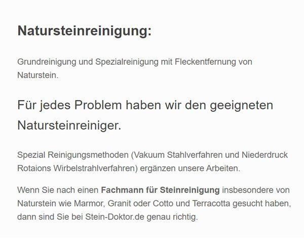 Naturstein Reinigung für  Köln